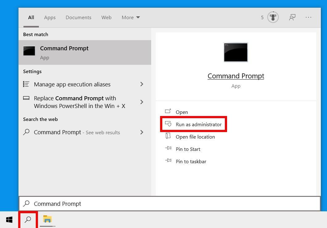 windows search command prompt