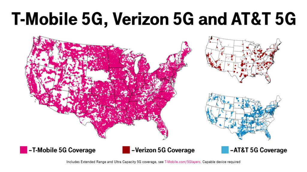 t-mobile largest network