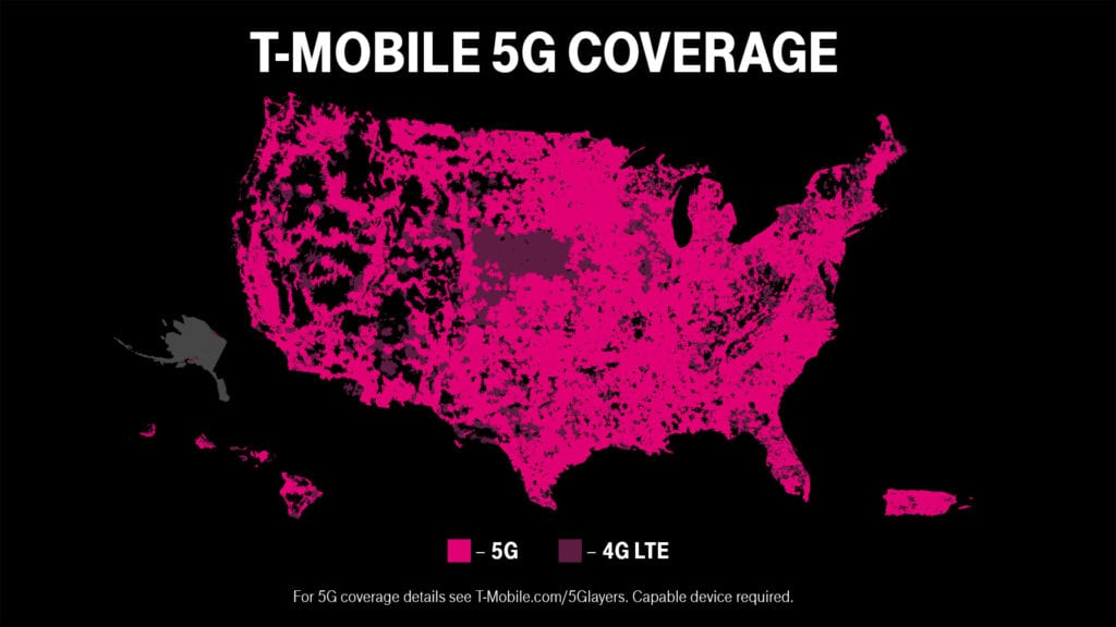 where is t-mobile 5g available