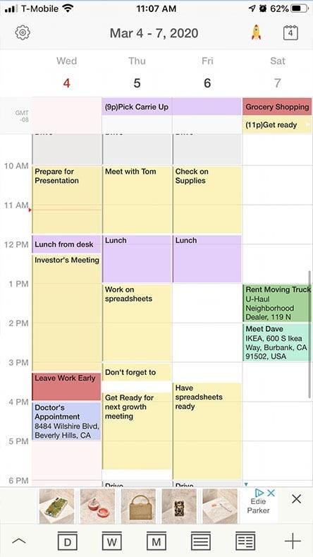 Tiny Calendar free App for iPhone