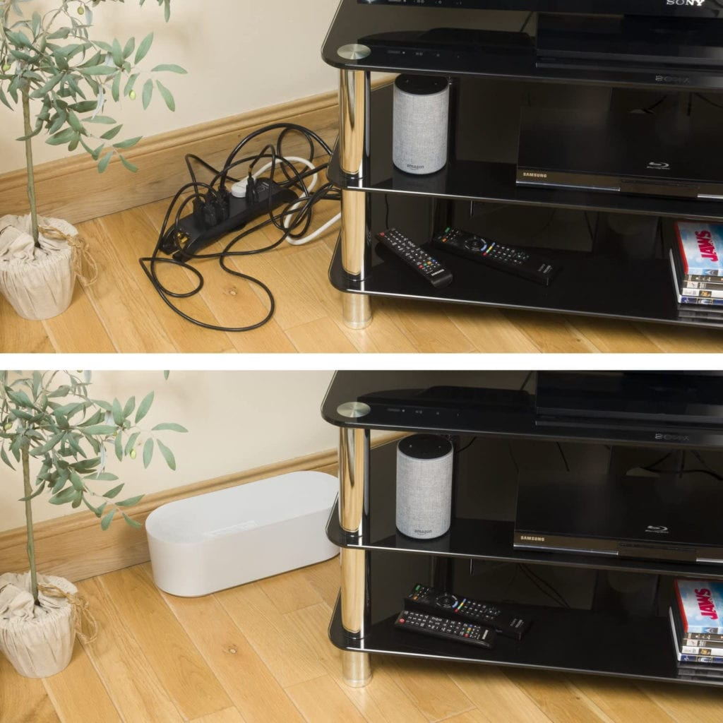 how to hide your TV wires in a box