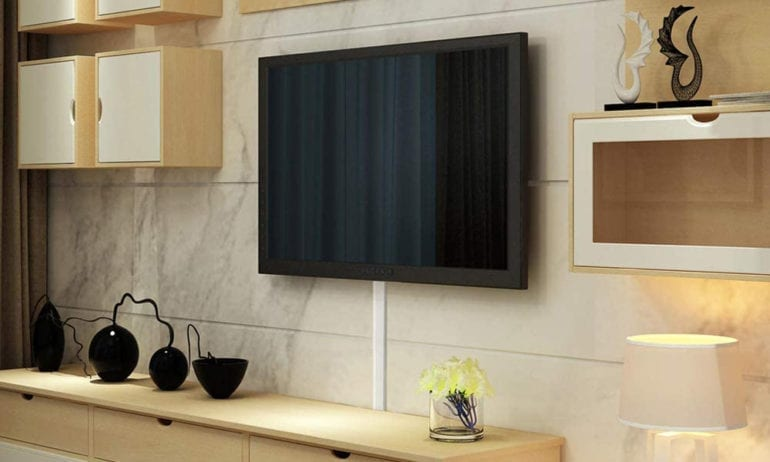 how to hide your TV wires without cutting into your walls