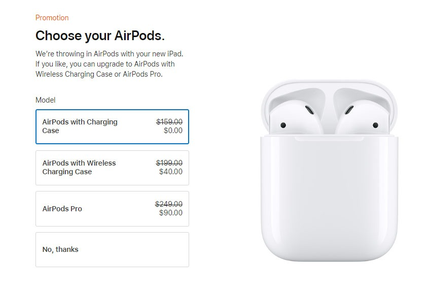 free airpods promotion