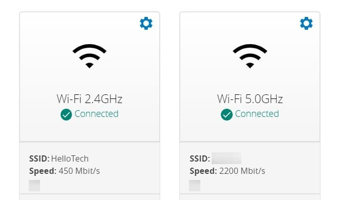 dual band router settings