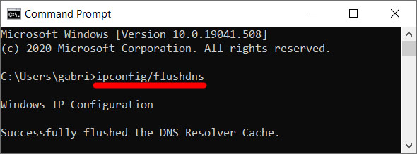 flush dns command prompt