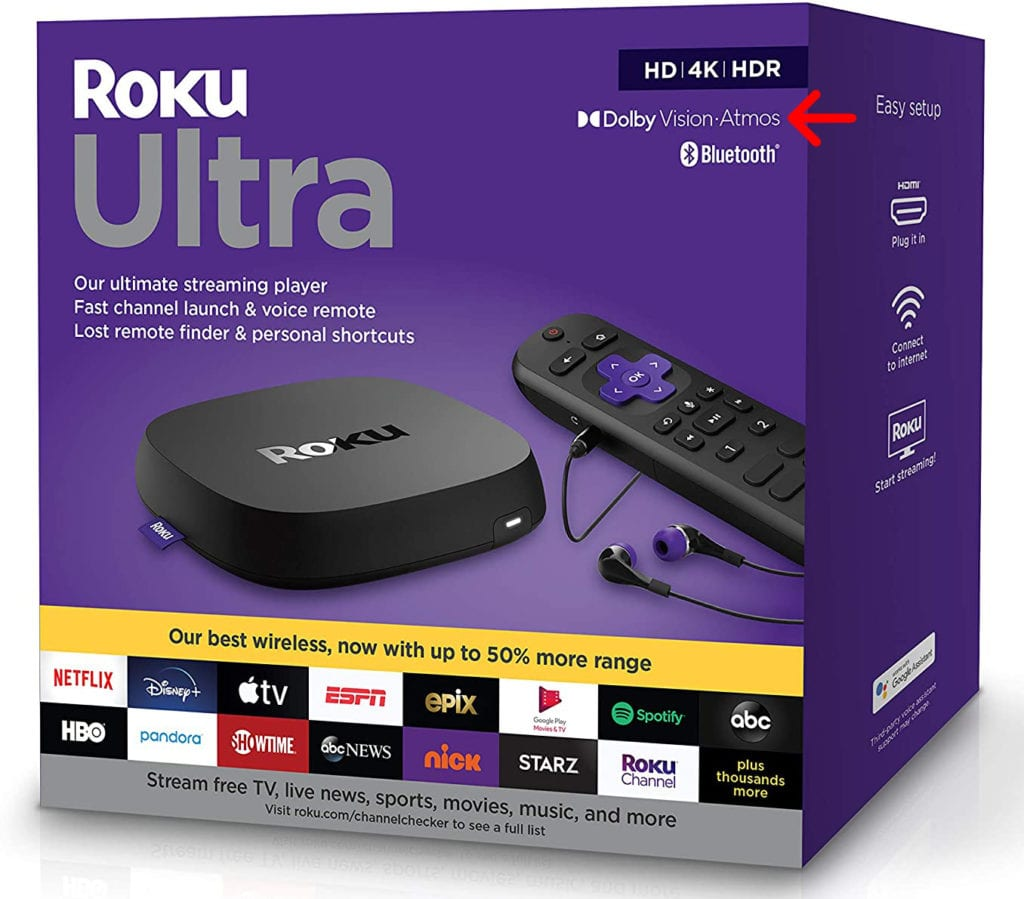 what streaming devices support dolby atmos