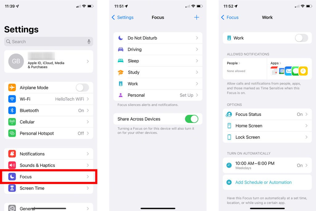 How to Use Focus Mode in iOS 15