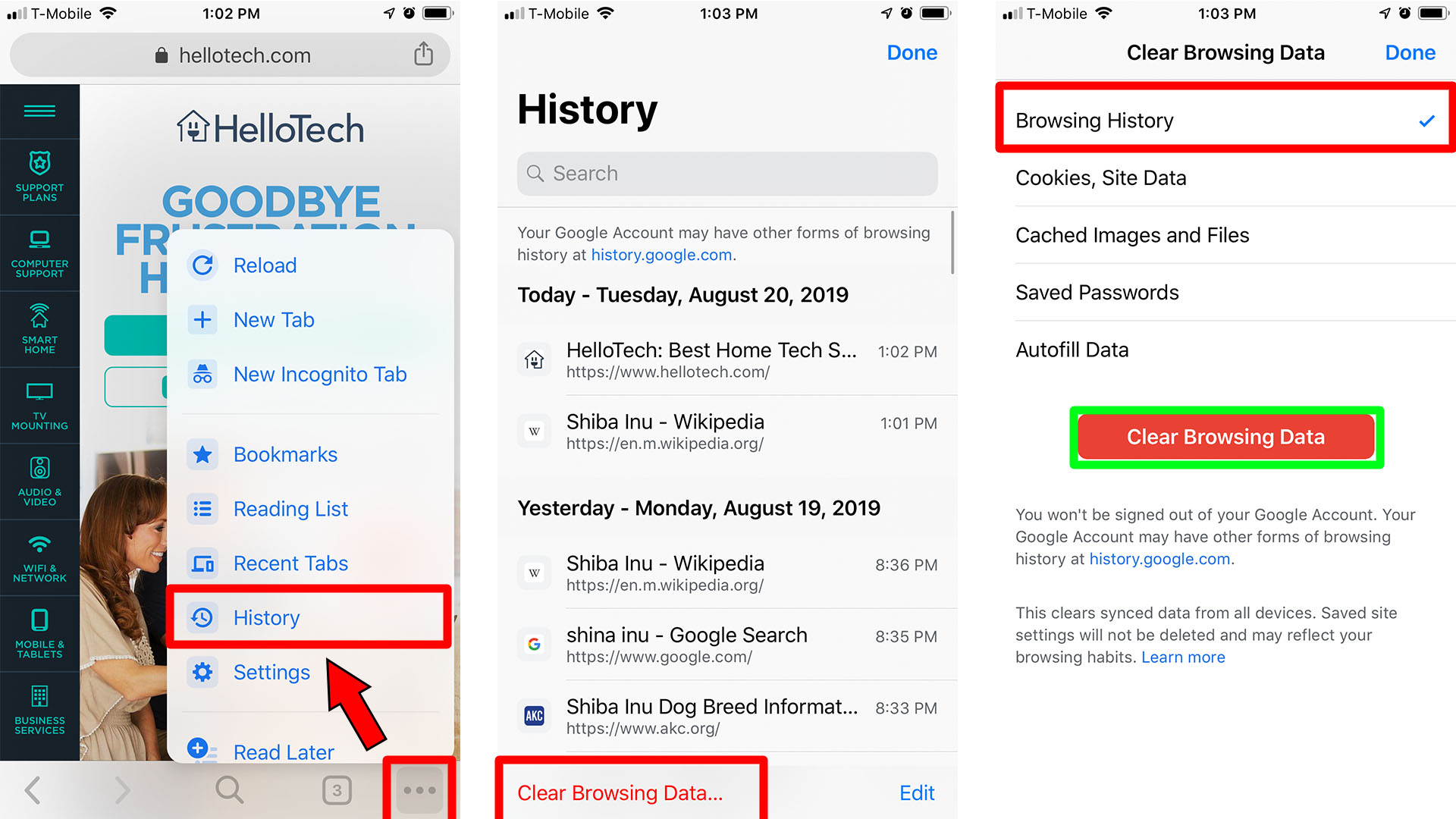 How to Clear All Browsing History on Chrome