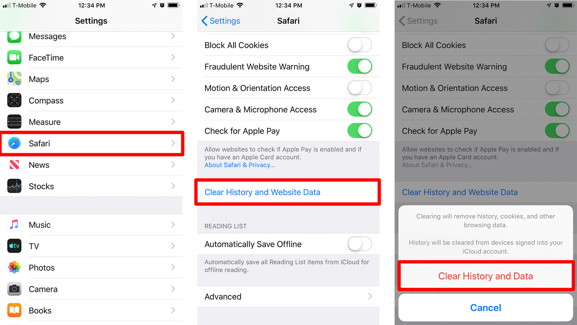 How to Clear All History on Safari