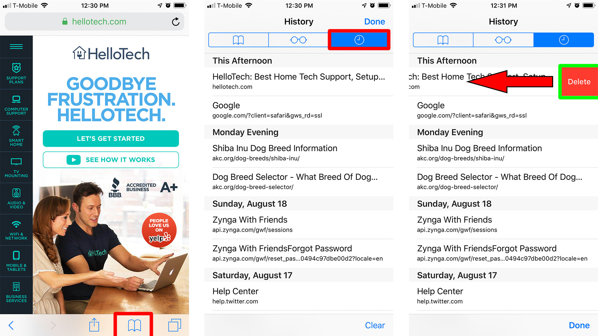 How to Clear History of Individual Sites on Safari