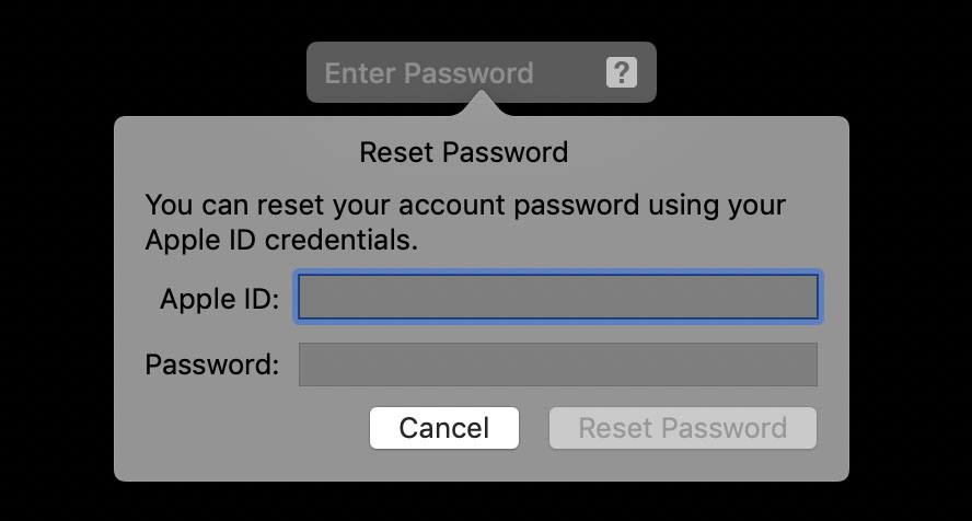 How to Reset your Password Using you Apple ID
