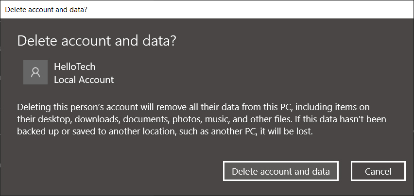 How to Delete an Administrator Account in Settings