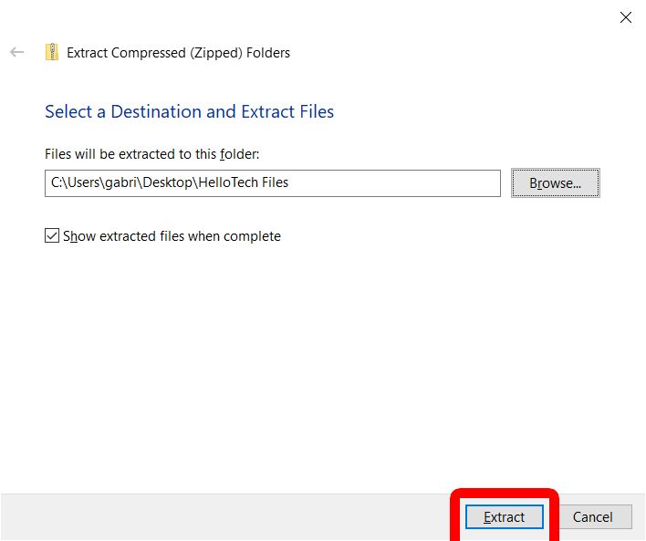 How to Open a ZIP File on Windows 10