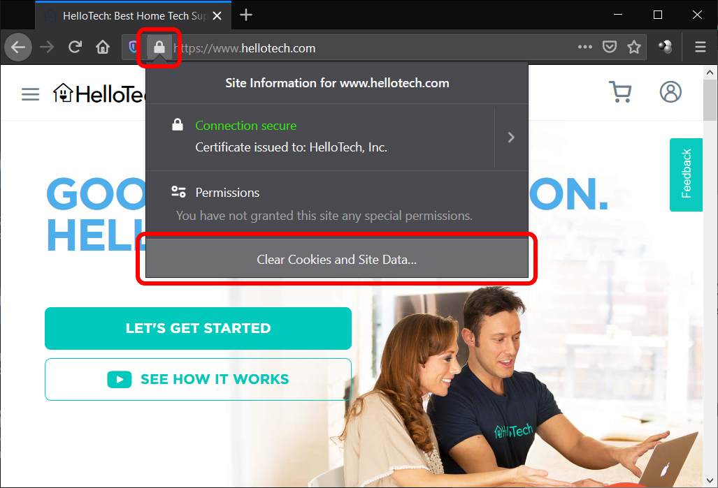 How to Clear Cookies for the Current Website in Mozilla Firefox