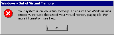 """What Does """"Low on Virtual Memory"""" Mean"""