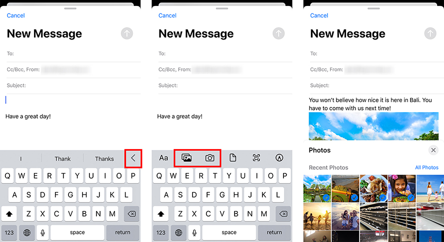 How to Attach a Photo to an Email on Your iPhone