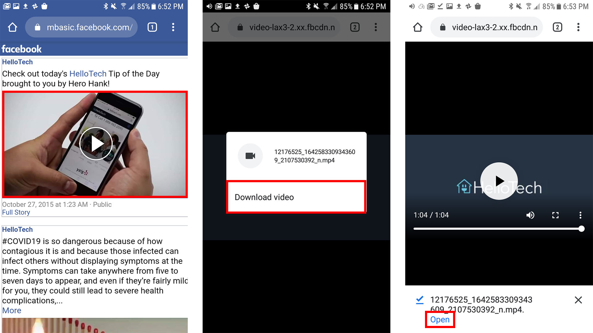 how to download videos from facebook to Android