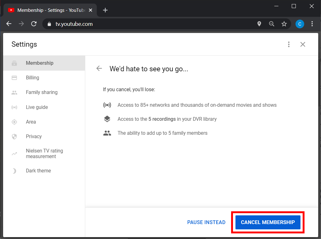 How to Cancel Your YouTube TV Subscription on a Computer
