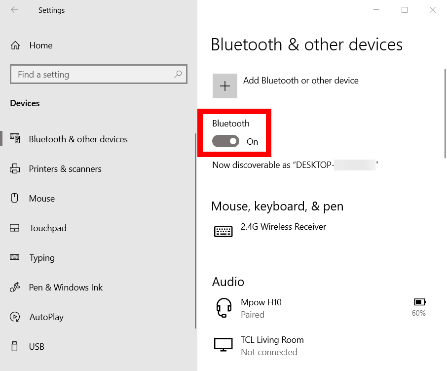 How to Turn on Bluetooth and Connect a Device in Windows 10