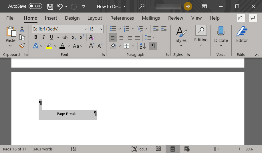 How to Delete a Blank Page in Word on a Windows 10 PC