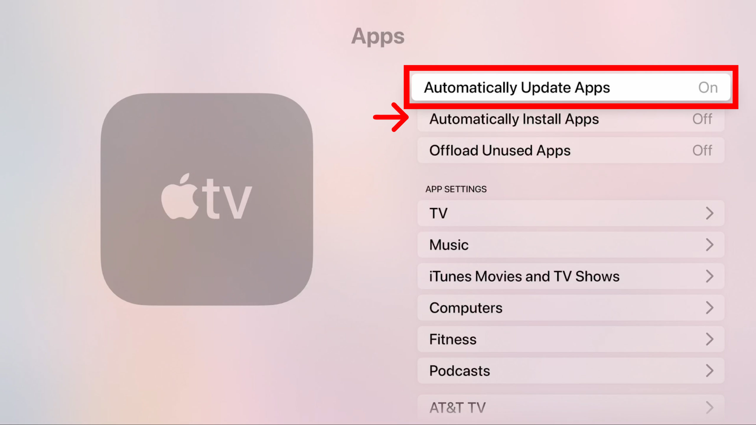 How to Set Up Automatic Updates for Your Apple TV Apps