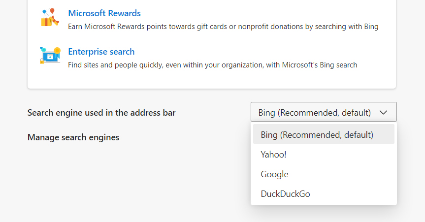 How to Change the Default Search Engine in Edge