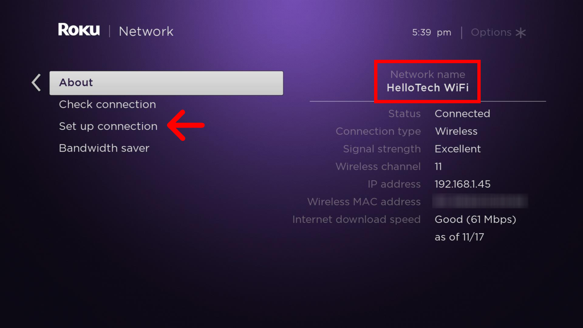 how To see your Roku's WiFi network